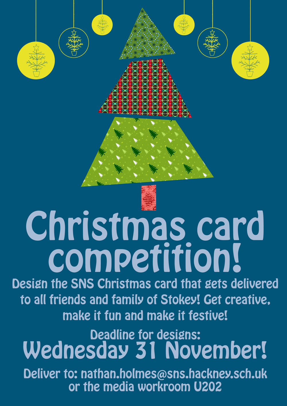 Christmas card competition! | Stoke Newington School